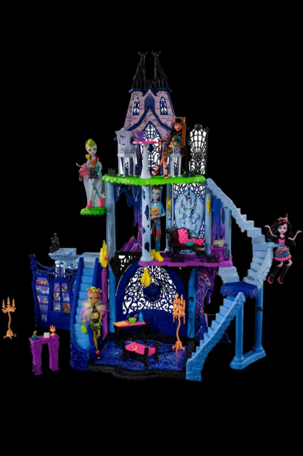 Dukkehus-dukke, Monster high, Monster High slot sælges 500…