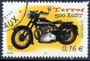 Stamp / Timbre France Oblitere N° 3509 Moto / Terrot 500 Rgst Pour Assurer Des AnnéEs De Service Sans ProblèMe