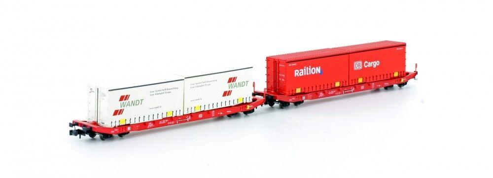 Hobbytrain N h23765 - 2er Set sgkkms 689 Jumbo wechselprit. DB CARGO Merce Nuova