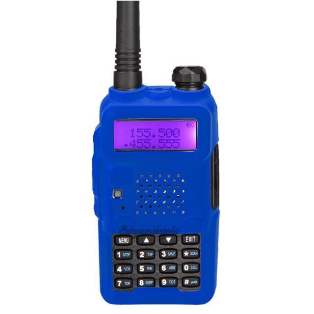 Baofeng UV-5R Blue Custom Neoprene Rubber Protection Cover UK Seller