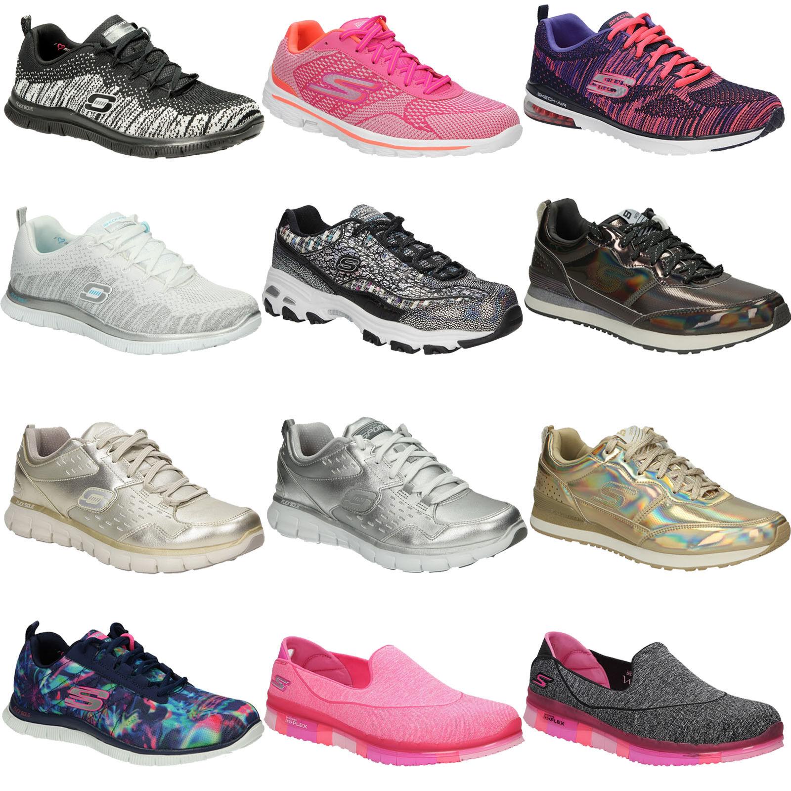 Zapatos promocionales para hombres y mujeres Skechers Sportschuhe Damenschuhe Ganzjährig Bequem Jugend Freizeit Gr. 36-41