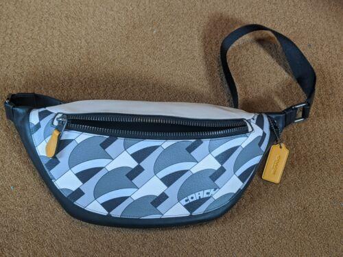 Unisex Coach Warren Belt Bag Deco Geo Print