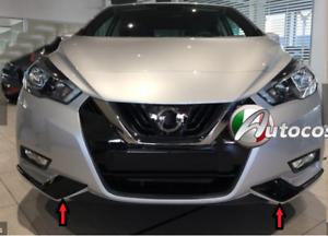 Modanature-per-Nissan-Micra-17-cover-cornici-paraurti-anteriore-nero-lucido