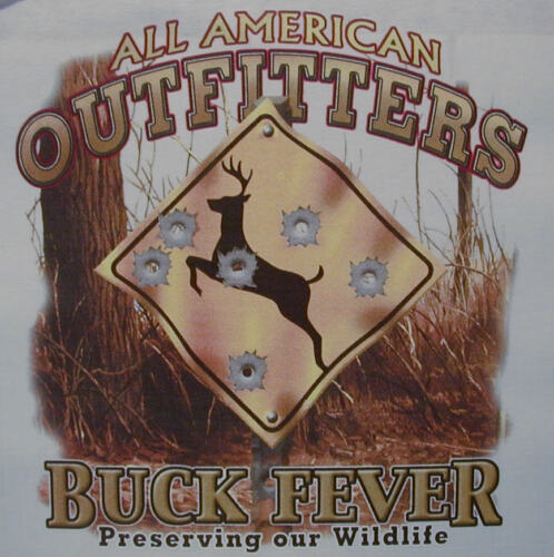 ALL AMERICAN OUTFITTERS BUCK FEVER DEER HUNTING HUNTER  SHIRT #404