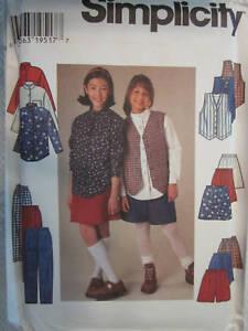 finest selection 3e50e c5f25 Dettagli su 7361 Non Tagliati Simplicity Cartamodello Bimba Maglia Gonna  Pantaloni Shorts