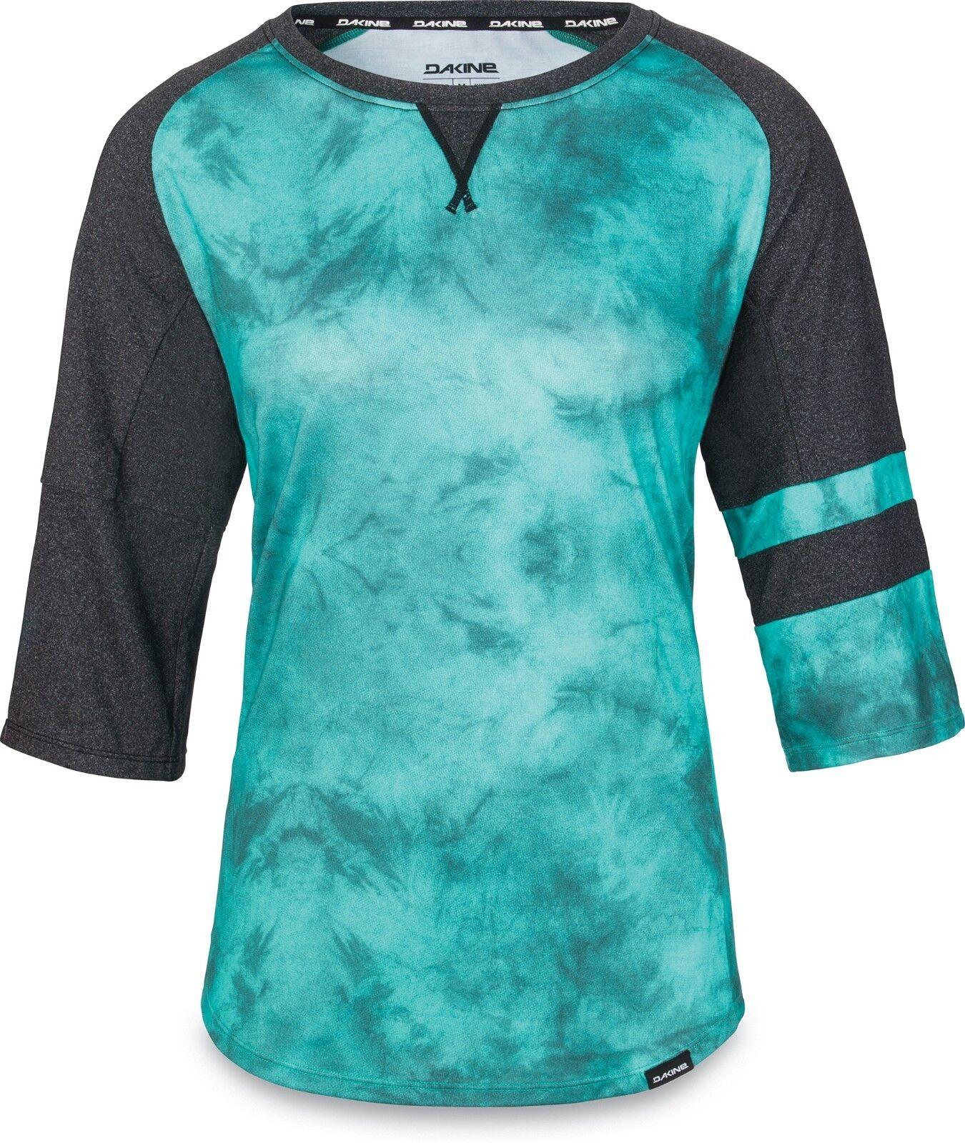 Dakine XENA Womens 3 4 Sleeve Cycling Jersey Medium Lagoon Haze NEW 2019 Sample