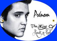 Plaque De Porte Elvis Presley Personnalisée Avec Prénom (v1)