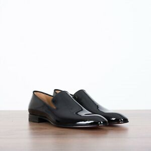 CHRISTIAN-LOUBOUTIN-795-Dandelion-Loafers-In-Black-Patent-Leather