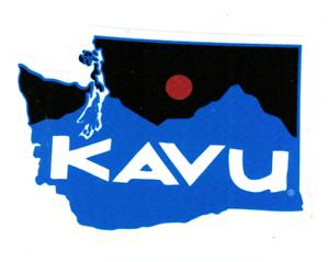 KAVU CLOTHING BACKPACKS BAGS HATS GEAR LOGO WASHINGTON STATE STICKER DECAL NEW!