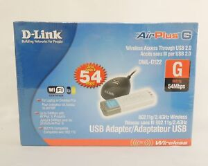 D-LINK AIRPLUS XTREME G DWL-G122 DRIVER FOR WINDOWS