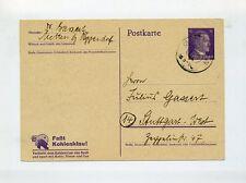 1943 Dt. Reich Sonderganzsache Faßt Kohlenklau .. gestempelt P 312/01