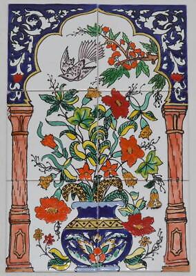 Fliesenbild Keramikfliesen Orientalisch Handbemalt Wandfliesen Mediterran 06 18