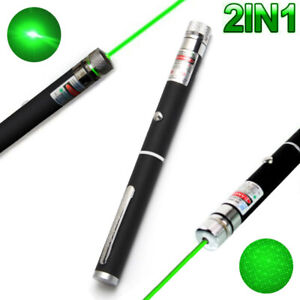 2IN1-High-Power-10mW-532nm-Green-Laser-Pointer-Lazer-Projector-Pen-Teaching