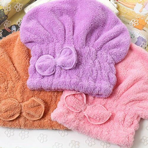 Jp Au /_ /_ Fast Dry Microfibra Laço Lenço Cabeça cabelo Toalha Banho Spa Cap absorben