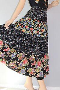 36 80er 80s Vtg True Vintage Damen Rock Midi Skirt BlÜmchen Gr S Floral Boho Delikatessen Von Allen Geliebt