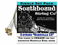 6-string Electric Lap Steel Guitar String Set: nashville C6 Tuning - Cegace