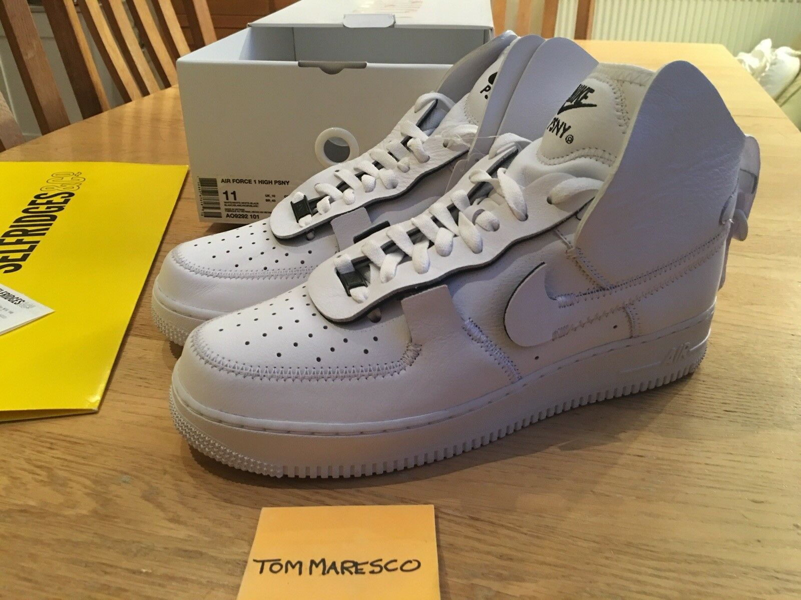 NIKE Air Obliger UK10 1 High PSNY Triple blanc AO9292-101 UK10 Obliger US11 EUR45 076f16