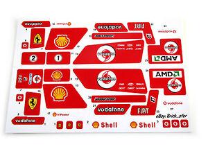CUSTOM STICKERS for LEGO 8674 Ferrari f1 racer , MODELS, TOYS, ETC VERY NICE!
