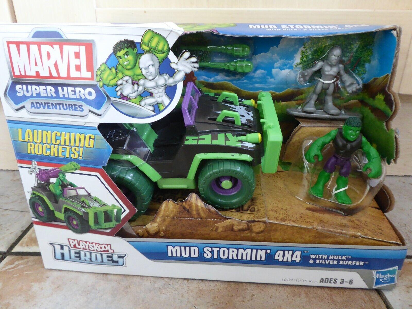 泥Stormin ' 4 x 4車両ハルとシルバーサーファー