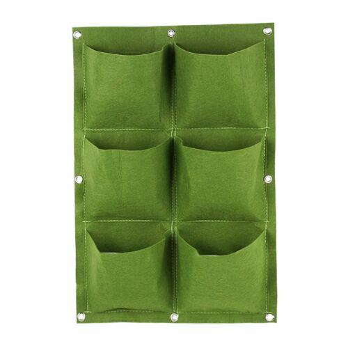 Pocket Wall-Mounted Non-Woven Felt Planting Bag Vertical Planter Hangers@A