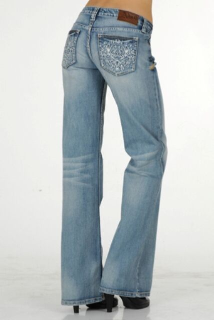 ADIKTD Women's Spring Sparkle Relaxed Fit Mid-Rise Boot Cut Jeans ADJ002157 NWT