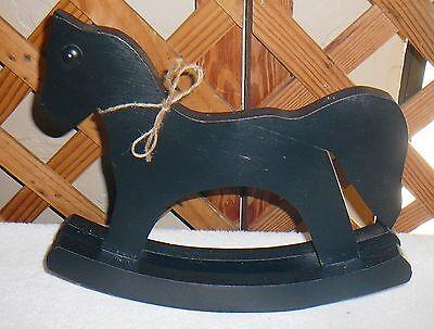 ROCKING ROCKING HORSE~Miniature~Black~Doll HORSE~Miniature~Black~Doll Accessory~FREE SHIP Size~Handcrafted~Doll UxrU6q7wB