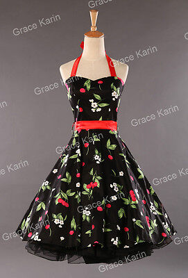 CHEAP!Housewife Vintage Retro 50s 40s Swing Floral Evening Party Pinup Tea Dress
