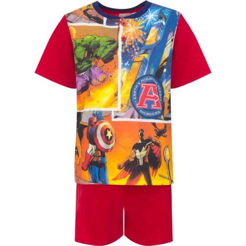 Boys Kids Children Avengers Cotton Pyjamas Pjs T-Shirt Shorts Set 8-9-10 years