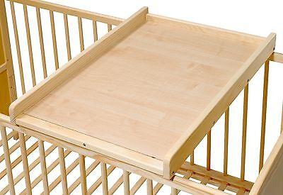 Wickelauflage 47x80 Wickelplatte Wickeltisch für Bett braun Bär mit Stern