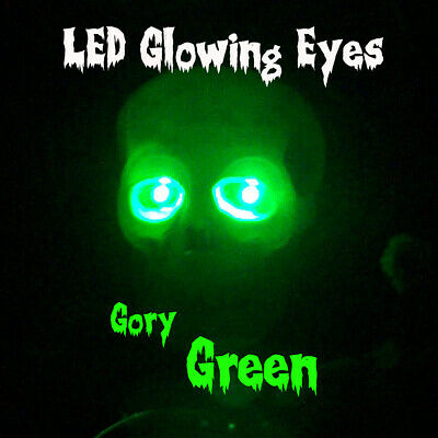 LED GLOWING EYES HALLOWEEN WIDE BLUE 5MM 9V ON//OFF SWITCH  6/""