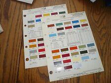 1976 77 American Motors International Commercial Ditzler PPG Color Chips Paint