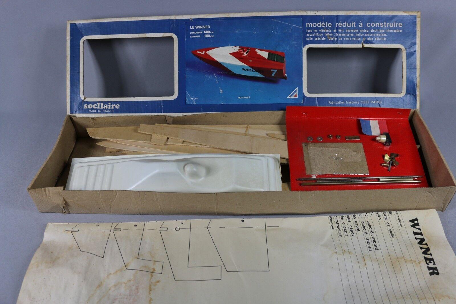 Zf040 Socllaire Maqueta Barco Madera Wi-31 The The The Winner 600x180mm Fuera de Abordo 18d2cf