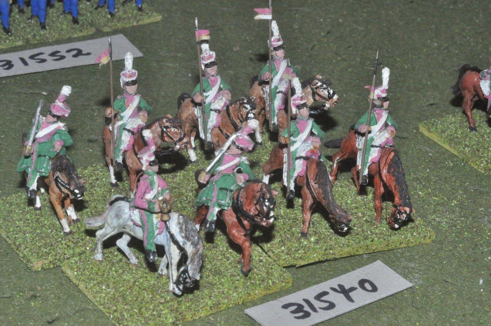 25mm napoleonic   french - berg lancers 8 figures - cav (31540)