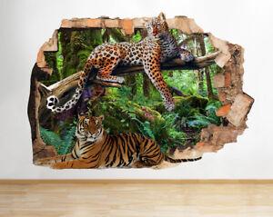 M755-selva-gatos-salvajes-del-tigre-de-pegatina-pared-vinilo-3d-habitacion-ninos