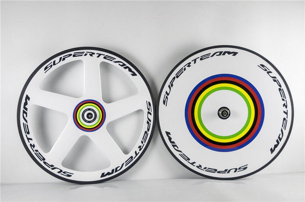 Superteam  Five  Spokes & Disc Carbon Wheelset Front 5 Spokes Rear Disc Wheels  the newest
