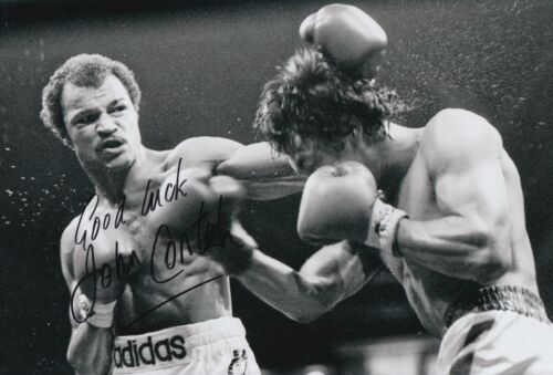 John Conteh Hand Signed Boxing 12x8 Photo Legend.