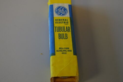 Tubular Lamp Clear GE 25T10-130 Volt