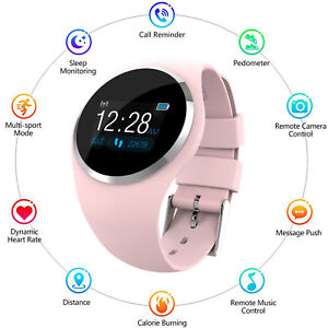 Femmes-amp-Fille-Waterproof-Bluetooth-Smart-Watch-Phone-Mate-pour-iPhone-Android-IOS
