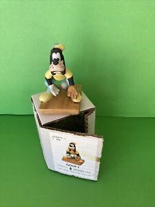 "Walt Disney Productions Bisque Porcelain Baseball Goofy 4"" Figurine NIB"