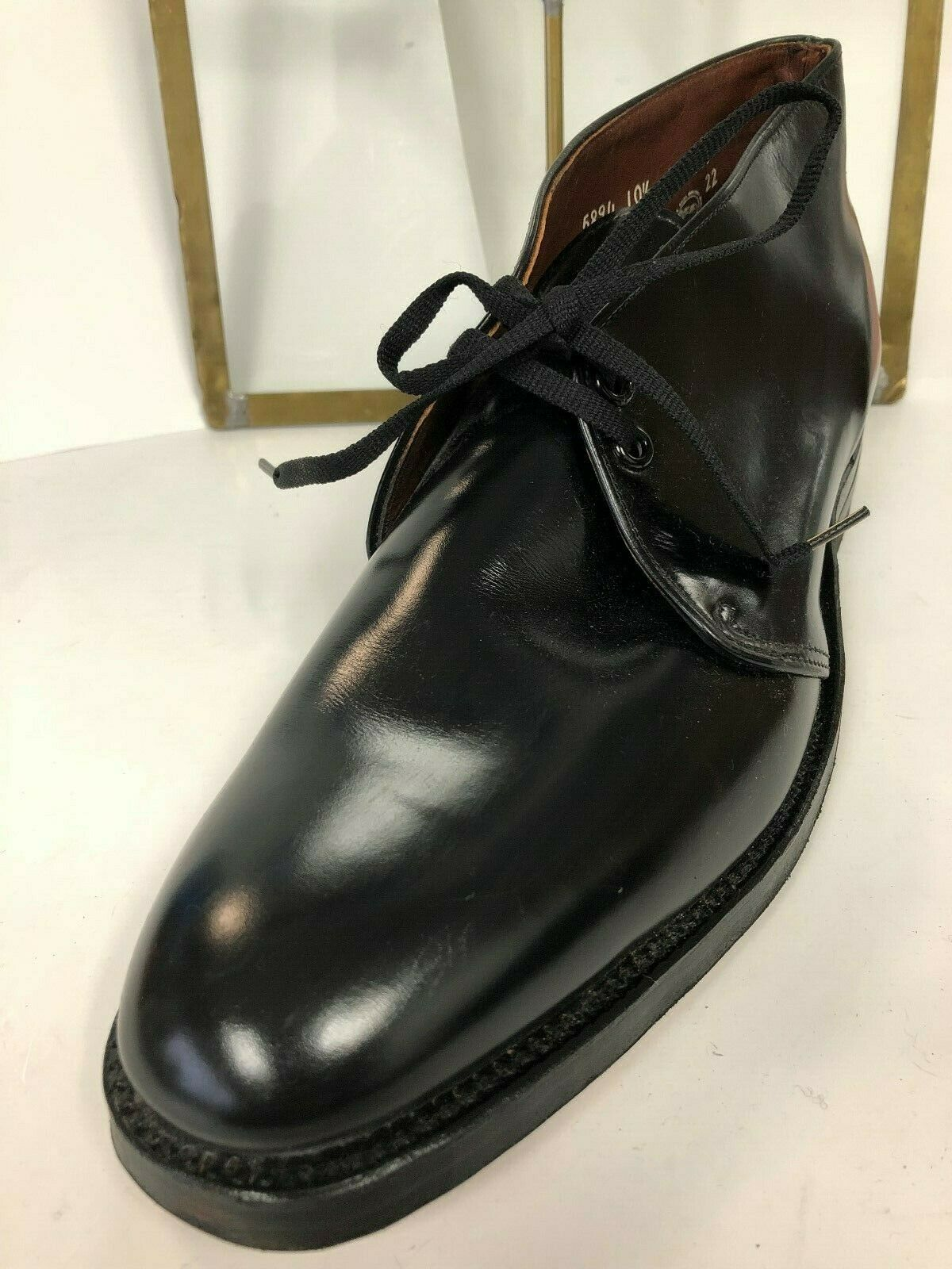 Crosby homme en cuir noir   Laceup Cheville Bottes Chaussures Sz 10.5 neuf sans boîte