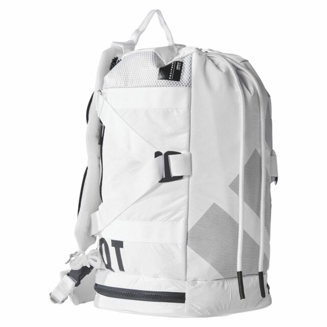 7f8d8a09b83 adidas ORIGINALS MEN'S EQT DUFFEL RUCKSACK BACKPACK WHITE RETRO SCHOOL BAG  NEW