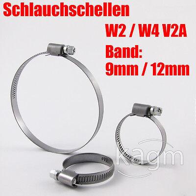 Schlauchschellen Schlauchschelle Schlauchklemmen W2 / W4 / Band: 9mm / 12mm