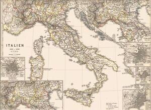 Landkarte Italien Mittelalter Italia Medioevo Firenze