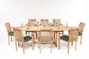 HUMBER TEAK GARDEN FURNITURE OVAL PATIO DINING SET QUALITY 5 8 SEATER STACKING - East Yorkshire UK, United Kingdom - HUMBER TEAK GARDEN FURNITURE OVAL PATIO DINING SET QUALITY 5 8 SEATER STACKING - East Yorkshire UK, United Kingdom