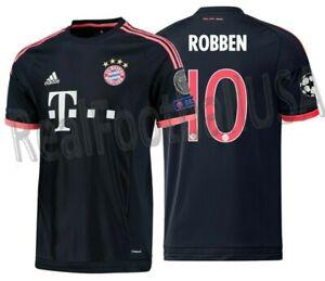 Details about ADIDAS ARJEN ROBBEN BAYERN MUNICH UEFA CHAMPIONS LEAGUE THIRD JERSEY 2015/16.