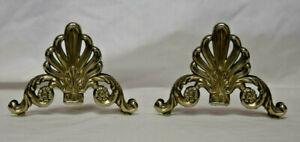 Set of 2 Vintage Art Nouveau Ornate Silverplate Elegance Napkin/Letter Holder
