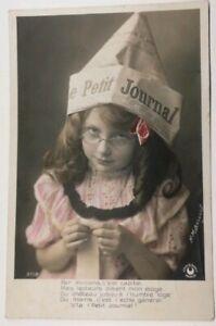 609-Antica-Cartolina-Colore-Cappello-il-Piccolo-Journal-3718