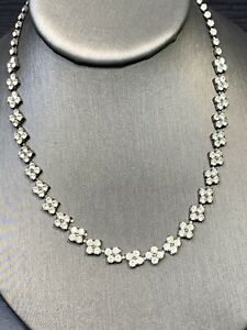 Stunning-1950-s-Clear-Rhinestones-Vintage-Necklace-Wedding-Flower-Girl-16
