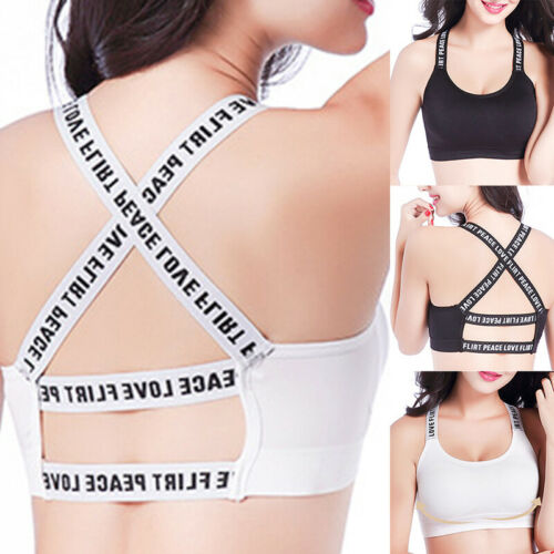 Womens Wrapped Chest Back Bra Strap Tube Top Sports Beauty Underwear Seamless US