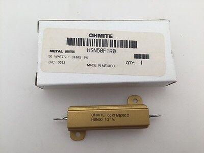 LN12J50R Ohmite 12 Watt 50 Ohm 5/% Resistor Wirewound 2 pcs Vitreous Enamel